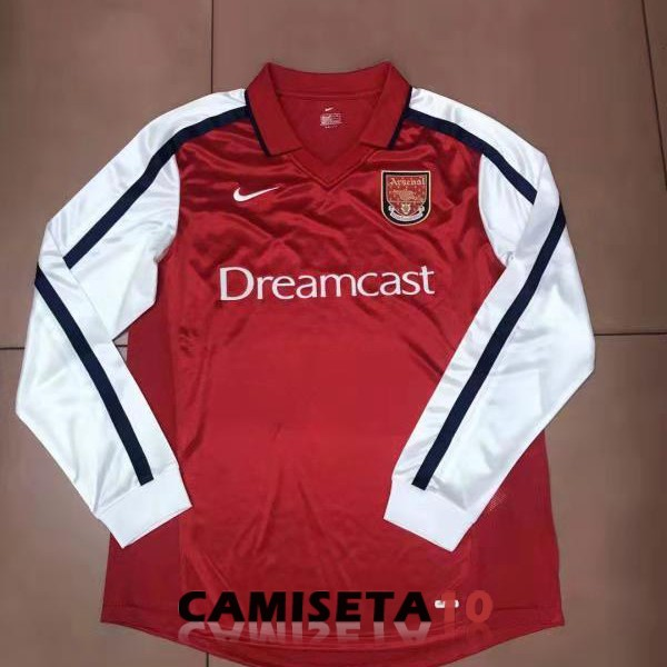 camiseta arsenal manga larga retro 2000 primera
