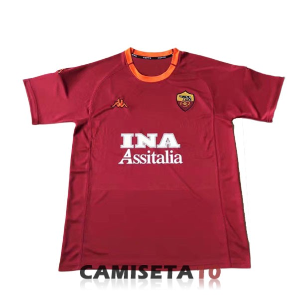 camiseta as roma retro primera 2000-2001