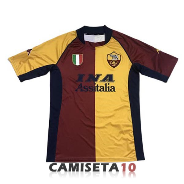 camiseta as roma retro primera 2001-2002