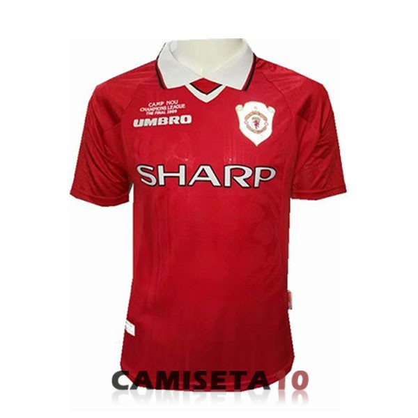 camiseta manchester united retro champions-league rojo