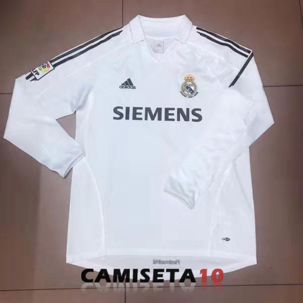 camiseta retro real madrid manga larga 2006 primera