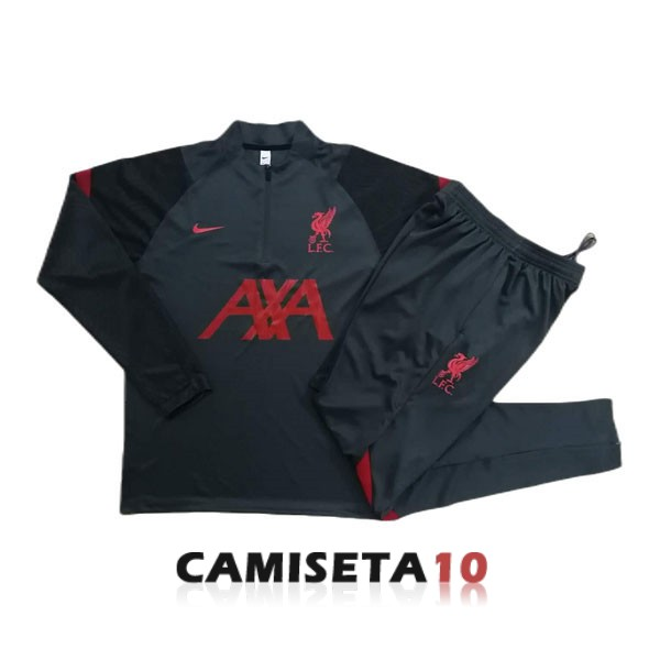 chandal liverpool cremallera 2020-2021 gris oscuro