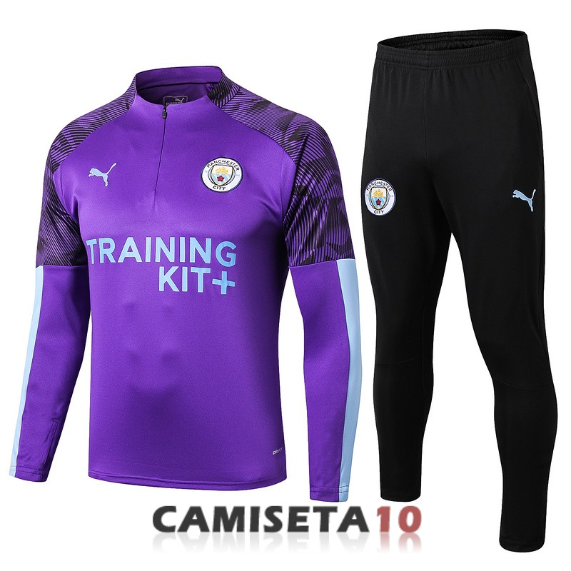 chandal manchester city cremallera 2019-2020 purpura