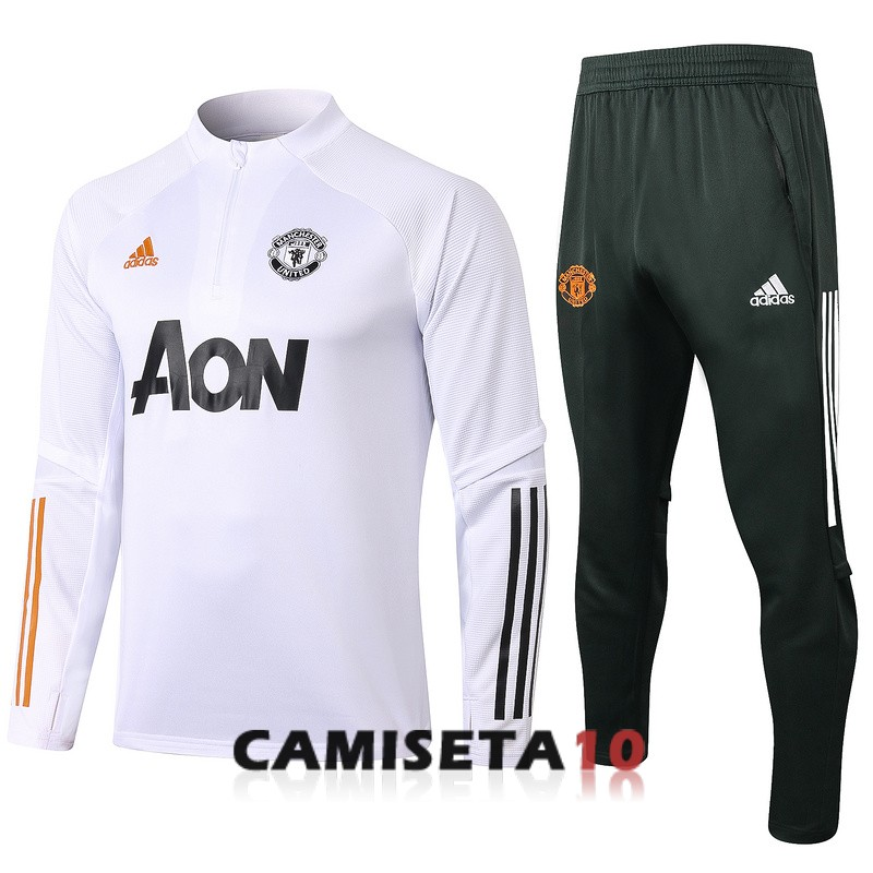 chandal manchester united cremallera 2020-2021 blanco