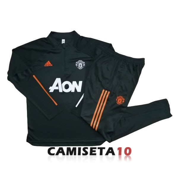 chandal manchester united cremallera 2020-2021 verde oscuro