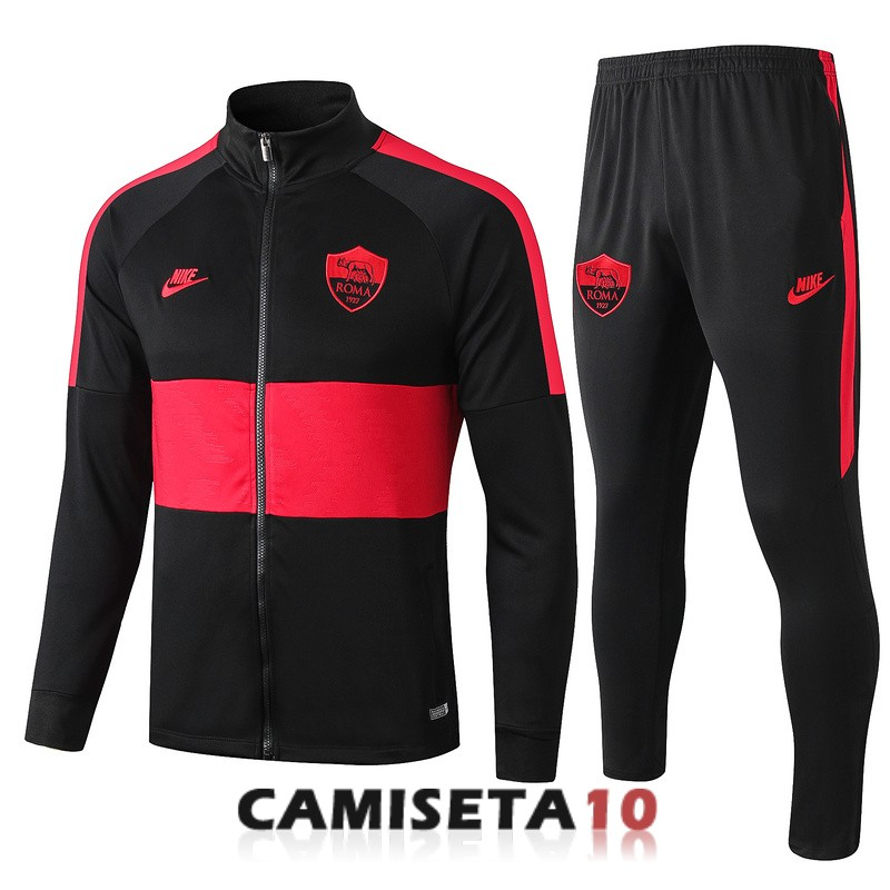 chaqueta as roma 2019 2020 negro rojo