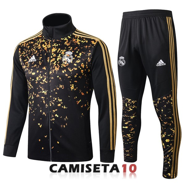chaqueta real madrid 2019-2020 oro negro