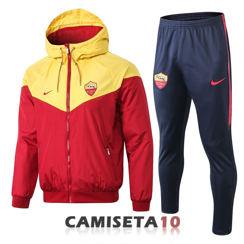 rompevientos as roma 2018-2019 amarillo rojo
